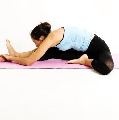 Yoga en Barcelona: posturas de yoga JANU SIRSASANA