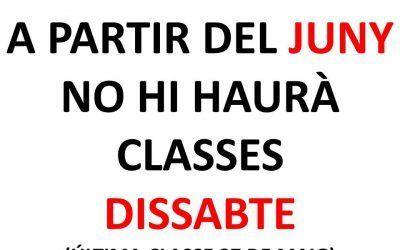 CLASES SÁBADO
